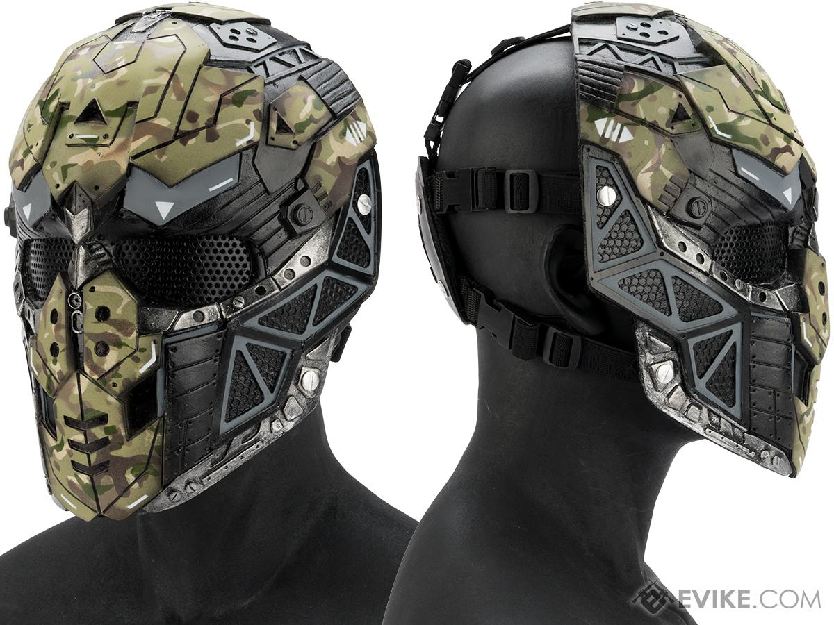 Evike.com R-Custom Fiberglass Raptor Full Face Mask (Color: Woodland / Mesh Lens)