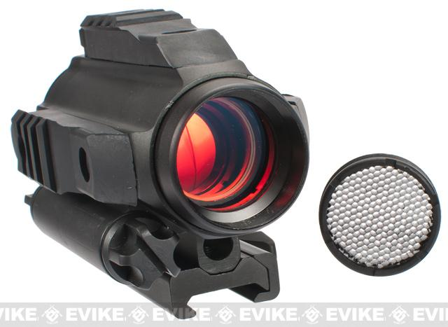 Avengers Tri-Rail Illuminated QD Red Dot Rifle Scope