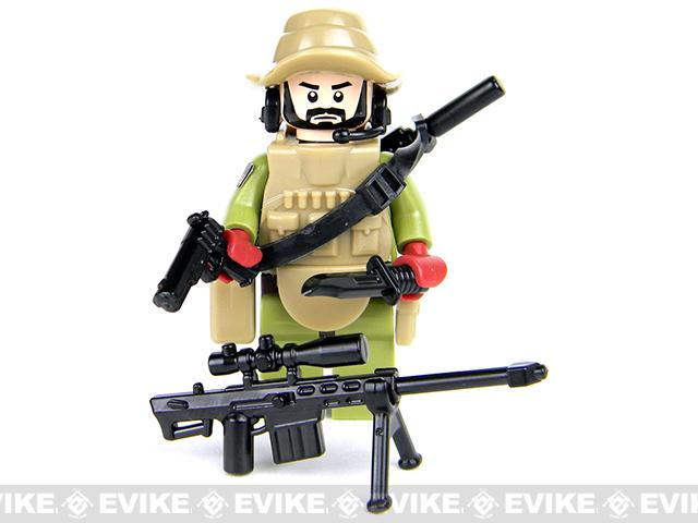 Battle Brick Customs Military Mini-Figure - Force Recon Special Forces Marine Sniper