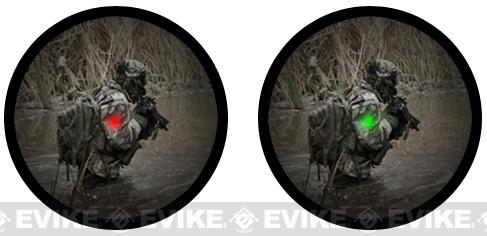 Matrix 1x40 Military Style Illuminated Red / Green Dot Sight Scope w/ QD Weaver Base & Flip-Up Lens Caps