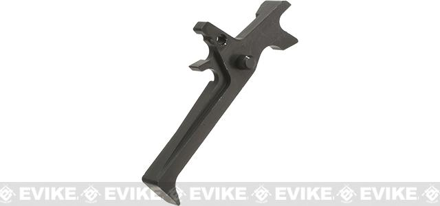 Retro Arms CZ Custom CNC Aluminum Trigger for M4 / M16 Series Airsoft AEG Rifles - Black (Type C)
