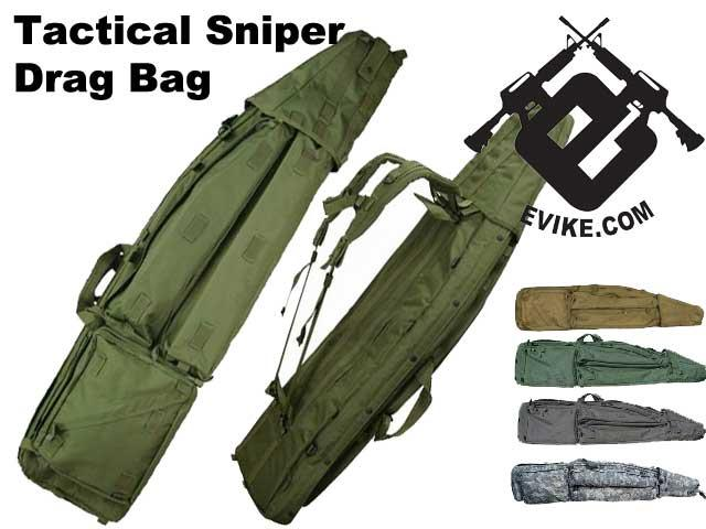 Mil-Spec 50 Deluxe Tactical Sniper Drag Bag / Rifle Case System - ACU