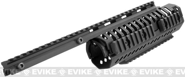 CQB Master CNC Selective Rails System for M4 series Airsoft Rifles - Black