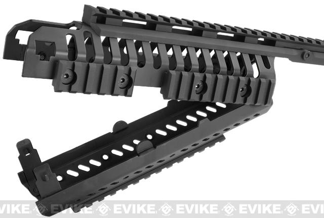 z CQB Master CNC Selective Rails System for M4 series Airsoft Rifles - Black