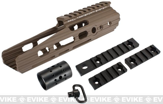 APS 8 Guardian RIS Handguard Set for M4 / M16 Series Airsoft AEG Rifles - Dark Earth