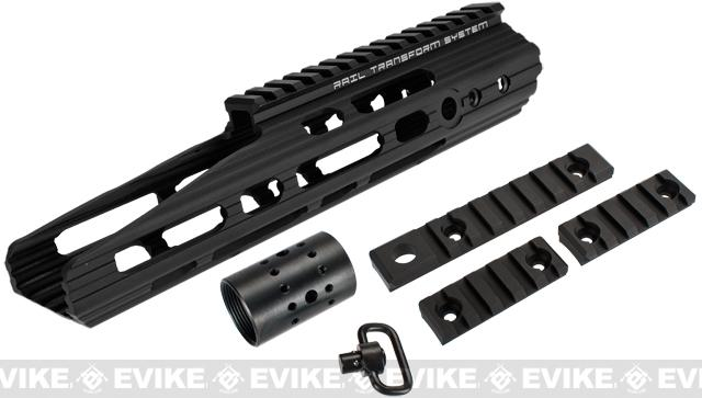 APS 10 Guardian RIS Handguard Set for M4 / M16 Series Airsoft AEG Rifles - Black