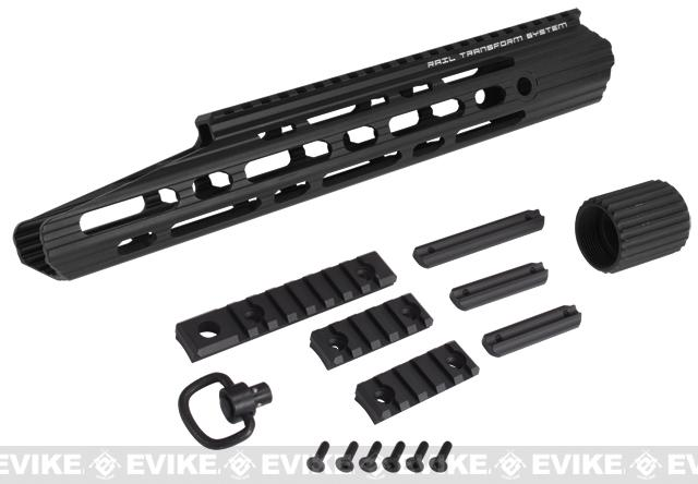 APS 13 Guardian RIS Handguard Set for M4 / M16 Series Airsoft AEG Rifles - Black
