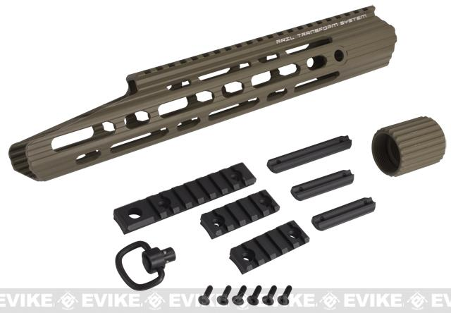 APS 13 Guardian RIS Handguard Set for M4 / M16 Series Airsoft AEG Rifles - Dark Earth