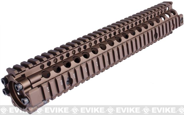 Madbull Daniel Defense MK12 12 M4A1 RIS II Airsoft CNC Aluminum RIS - Dark Earth