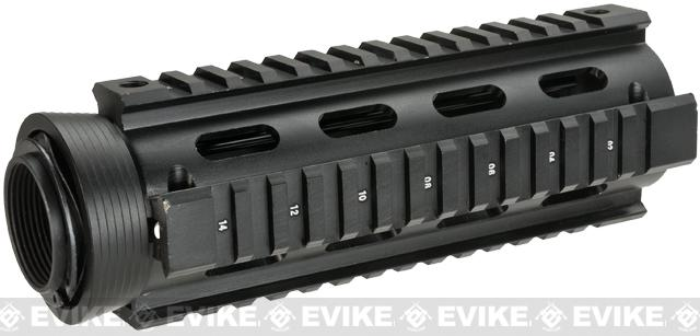 AIM Real Steel High Grade M4 QUAD RIS Handguard w/ Rubberized Rail Covers