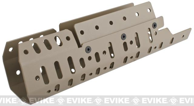 Matrix Selective CNC Aluminum Handguard for SCAR Series Airsoft AEG Rifles - Dark Earth