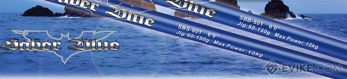 Jigging Master Saber Blue 60~150g Slow / Light Jigging Rod (Model: Underhead / Spinner)