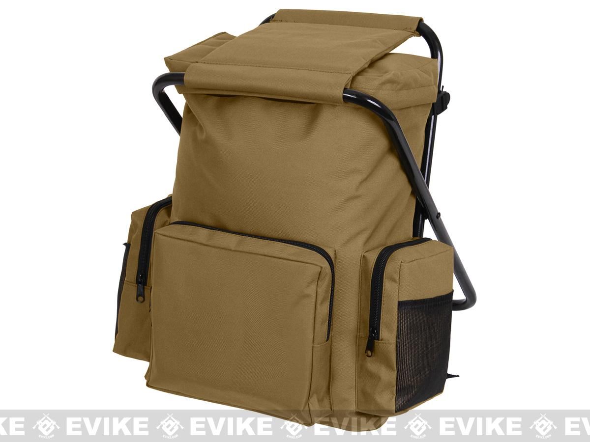 Rothco Tactical Back Pack Stool - Coyote