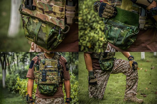 Rasputin Hook and Loop ADDON Plate Carrier Fanny Pack - Multicam Tropic