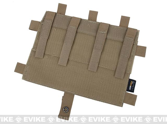 G Rasputin Laser Cut MOLLE Panel for AVS & JPC2.0 - Coyote Brown