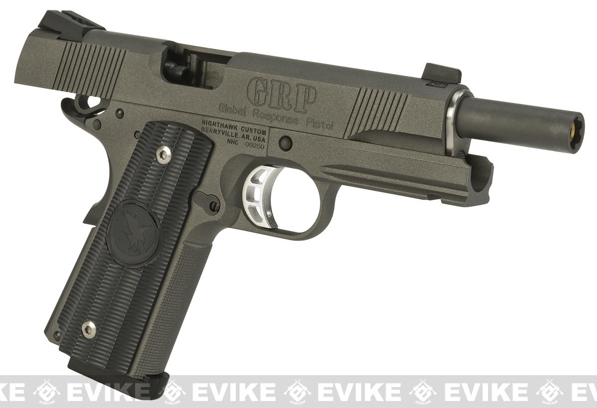 RWA Steel CO2 Powered Limited Edition Nighthawk GRP Recon Airsoft Pistol - Tungsten Grey Cerekote