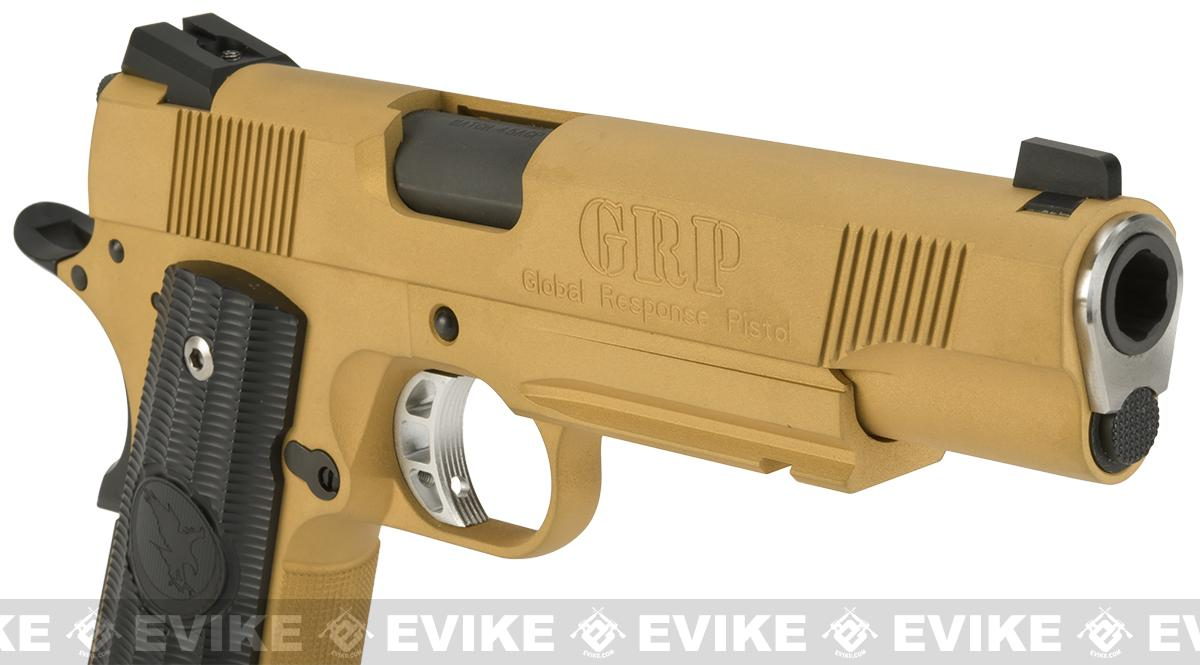 RWA Steel CO2 Powered Limited Edition Nighthawk GRP Recon Airsoft Pistol - Gold Cerakote