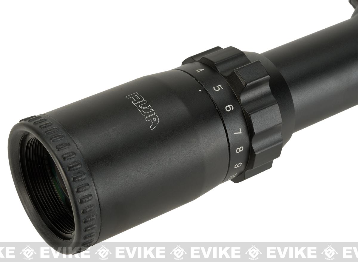 RWA 2.5 - 10 x 26 Rifle Scope with Red/Green Illuminated Reticle - Mil-Dot Reticle