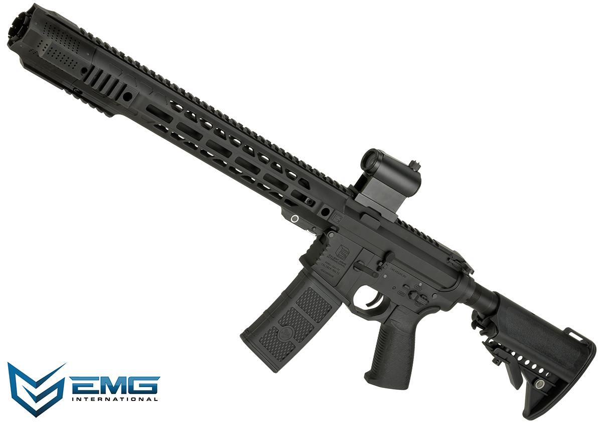 EMG SAI Licensed AR-15 GRY M4 Airsoft AEG Training Rifle with JailBrake Muzzle Device and Red Dot