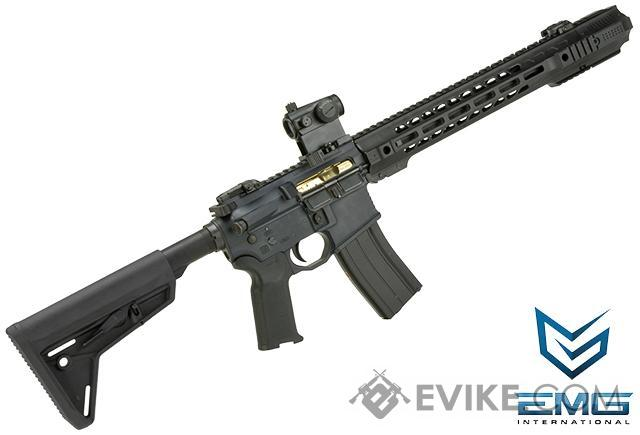 EMG Salient Arms Licensed CNC Receiver GRY Airsoft Gas Blowback Training Rifle with JailBrake Muzzle Device