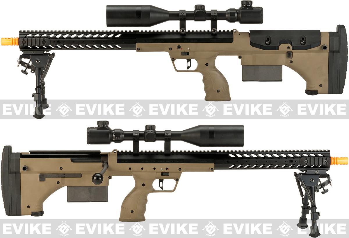 Pre-Order ETA October 2016 Desert Tech SRS-A1 22 Spring Powered Bullpup Airsoft Sniper Rifle by Silverback Airsoft - Flat Dark Earth