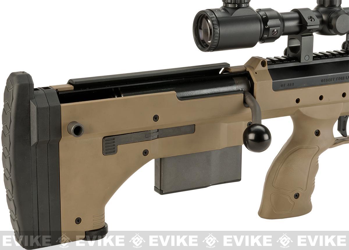 Pre-Order ETA February 2017 Desert Tech SRS-A1 22 Spring Powered Bullpup Airsoft Sniper Rifle by Silverback Airsoft - Flat Dark Earth