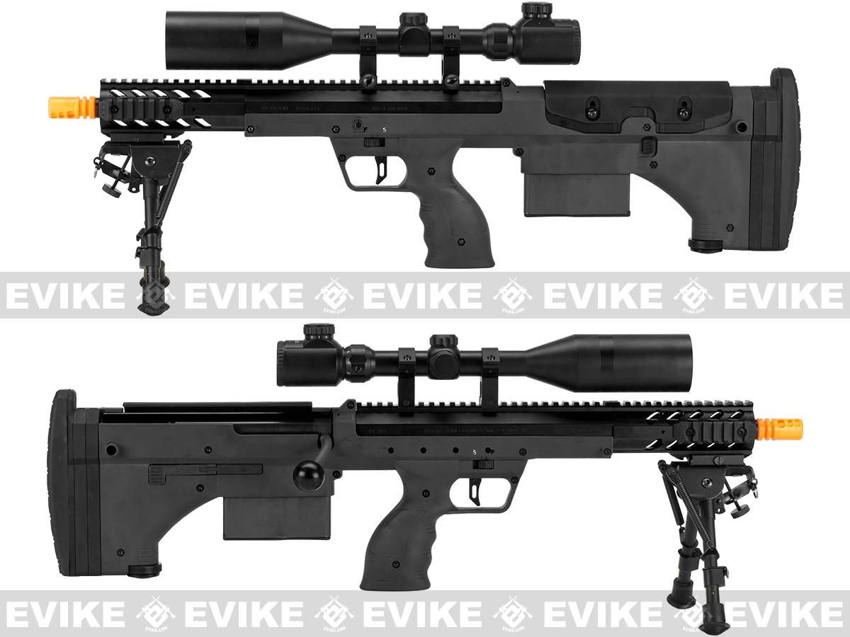 Pre-Order ETA February 2017 Desert Tech SRS-A1 16 Covert Spring Powered Bullpup Airsoft Sniper Rifle by Silverback Airsoft - Black