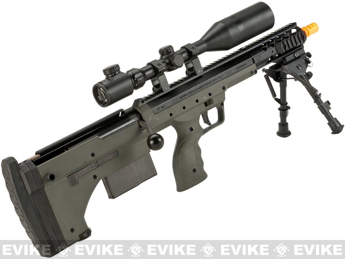 z Desert Tech SRS-A1 16 Covert Spring Powered Bullpup Airsoft Sniper Rifle by Silverback Airsoft - OD Green