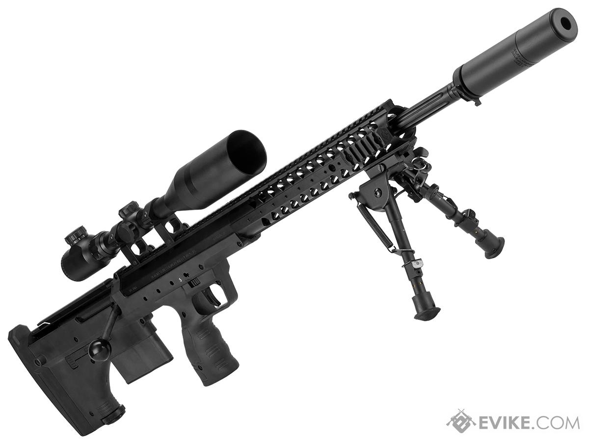 Desert Tech SRS-A1 26 Pull Bolt Spring Powered Bullpup Airsoft Sniper Rifle by Silverback Airsoft (Color: Black)