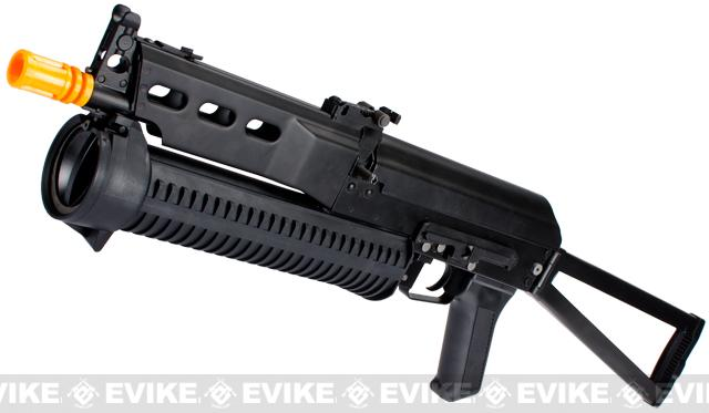 PP-19 AK Bizon-2 Bison Full Size Airsoft AEG Rifle by S&T CYMA (Full Metal Lipo Ready Version)