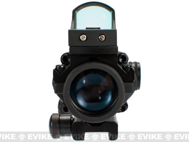 Avengers 4x32 Magnified Scope w/ Red Dot Reflex Sight For Airsoft