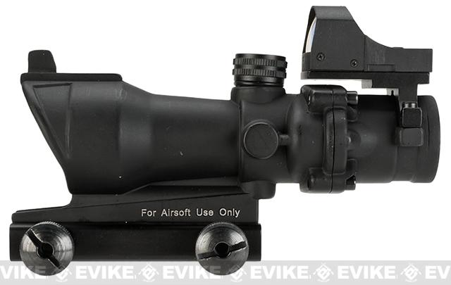 Bravo OP Style 4x32 Magnified Scope with Crosshair Reticle and Red Dot Reflex Sight