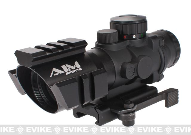 AIM 4x32 Tri-Illuminated Scope with Tri-Rail. (Quick Release Mount / Arrow Reticle)