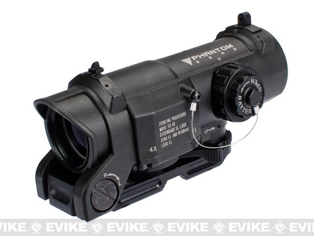 Phantom Advanced 1-4X Illuminated Reticle Rifle Scope