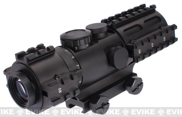 NcSTAR Tri-Railed 3-9x42 Illuminated Blue Mil-Dot Compact Scope