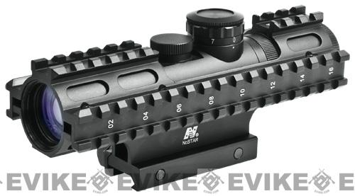 NStar Illuminated 2-7x32 Triple Rail Tactical Scope / Weaver Mount