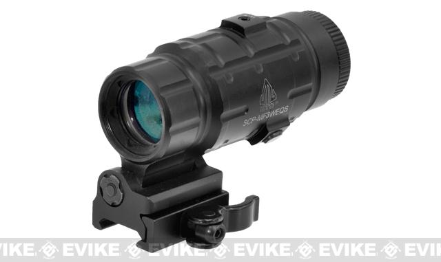 UTG 3X Magnifier with Innovative Flip-to-side Quick Detach Picatinny Mount