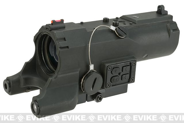 NcStar / VISM ECO 4x34 Scope w/ Green Laser, Nav LED, and Blue Illuminated Reticle - Black (Urban Tactical Reticle)