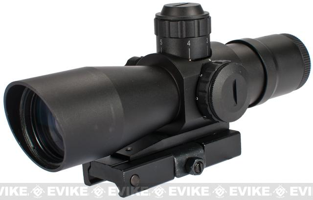 Zombie Stryke 4x32 Compact Dual Illuminated Biohazard Reticle QD Scope