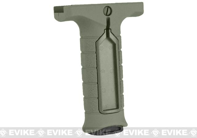 z Stark Equipment SE3 Forward Vertical Grip with Pressure Switch Pocket - Green
