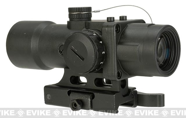 NcStar / VISM Compact Prismatic Optic (CPO Series) 3.5x32mm Scope w/ Green/Blue Illumination - Black