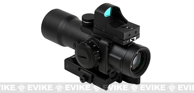 NcStar / VISM Compact Prismatic Optic (CPO Series) 3.5x32mm Scope w/ Green/Blue Illumination and Micro Dot - Black