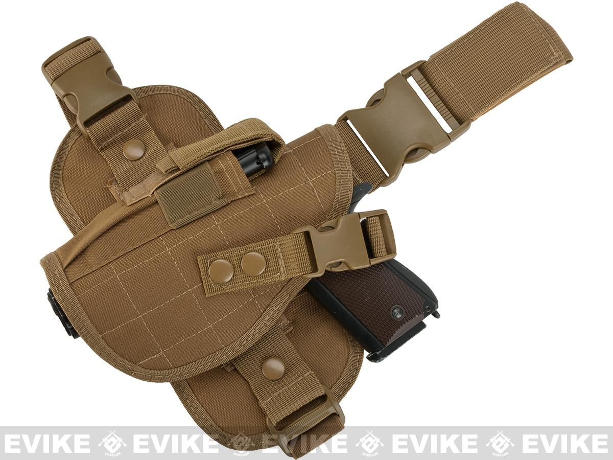 Matrix Special Force Quick Draw Tactical Thigh Holster w/ Drop Leg Panel (Coyote Tan / Left)