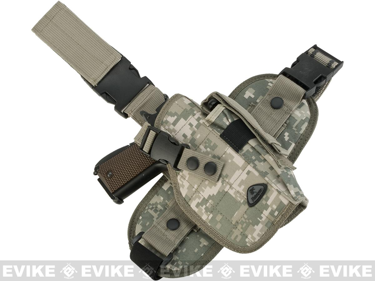 Special Force Quick Draw Tactical Thigh Holster w/ Drop Leg Panel (ACU / Right)