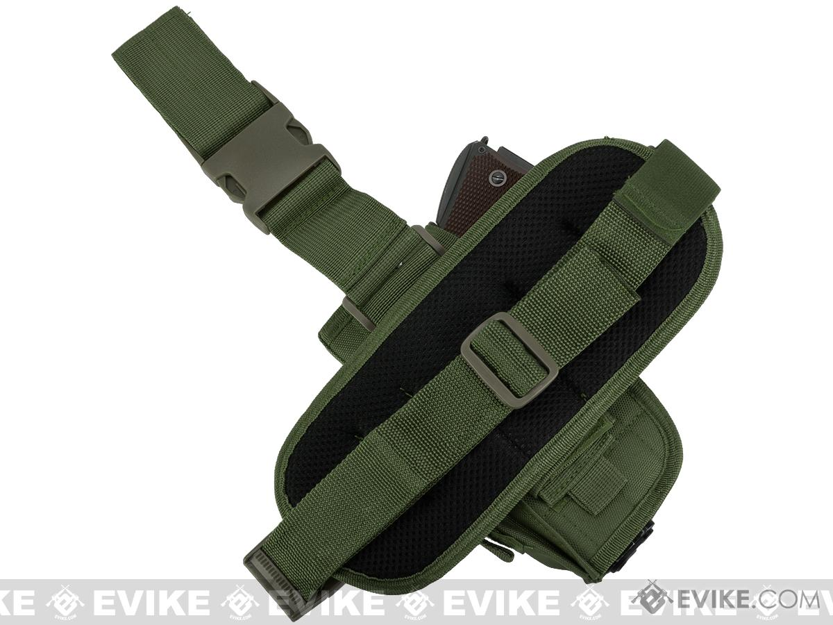 Matrix Special Force Quick Draw Tactical Thigh Holster w/ Drop Leg Panel (OD Green / Right)