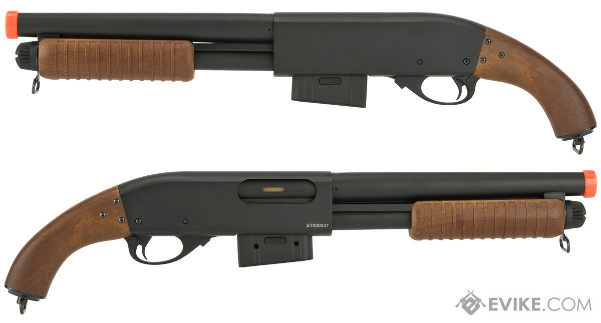 A&K M870 Type Full Metal Pistol Grip Airsoft Training Shotgun with Imitation Wood Furniture
