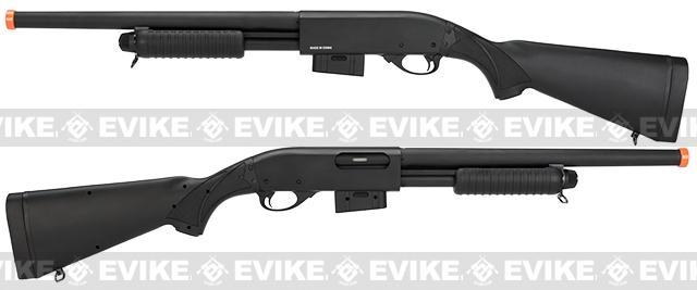 A&K M870 Type Full Metal 400 FPS Airsoft Training Shotgun (Long Version / Black)