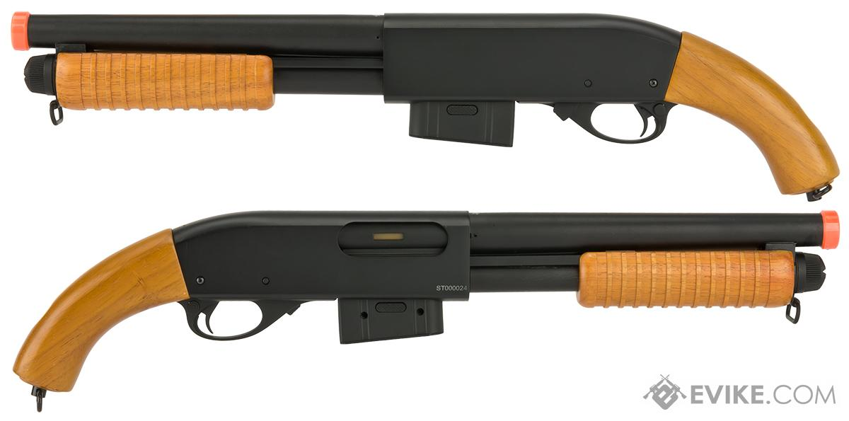 A&K M870 Type Full Metal 400 FPS Airsoft Training Shotgun (Short Version / Real Wood)