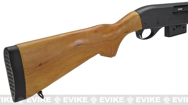 A&K M870 Type Full Metal 400 FPS Airsoft Training Shotgun (Long Version / Real Wood)