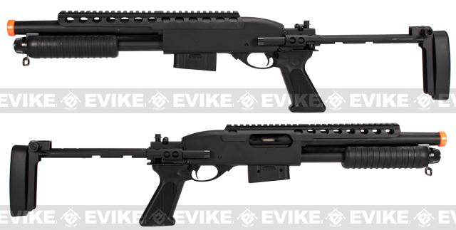 Pre-Order ETA September 2016 A&K Bravo Full Metal M870 Tactical Tac Shot Airsoft Shotgun (400 FPS)